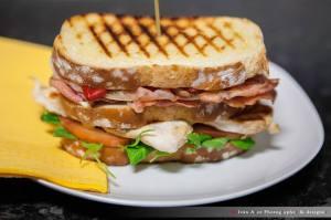 Sandwich vegetal con pollo