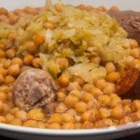 Cocido de garbanzos con berza  (2 pax)