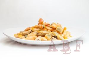 Tempura de verduras con slasa agridulce picante
