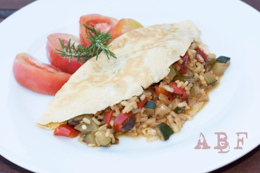 Arroz con tortilla